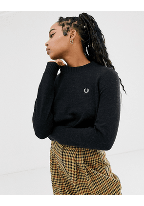 Fred Perry crew neck jumper-White