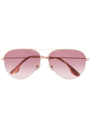 Victoria Beckham Aviator VB90S sunglasses - GOLD