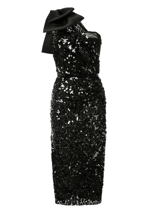 Dolce & Gabbana Sequined dress with bow - Black