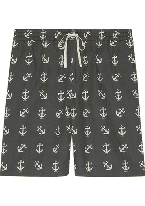 Gucci anchor print shorts - Grey