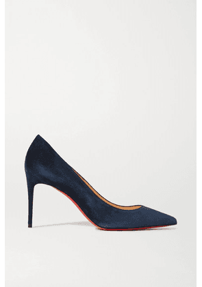 Christian Louboutin - Kate 85 Suede Pumps - Navy