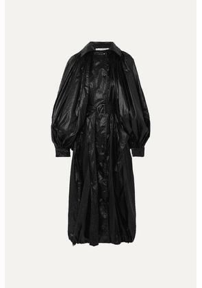 Givenchy - Hooded Glossed-shell Coat - Black