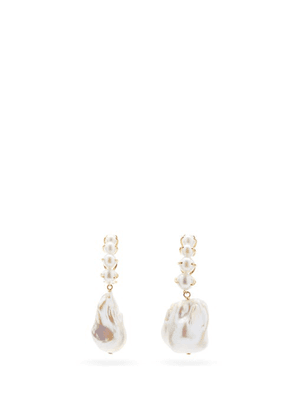 Ana Khouri - Laurence Baroque Pearl & 18kt Gold Earrings - Womens - Pearl