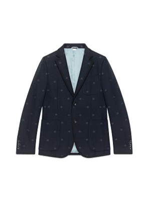 Monaco striped jacket with bees