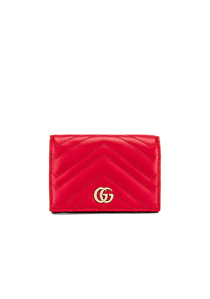 Gucci Leather Passport Case in Hibiscus Red - Red. Size all.