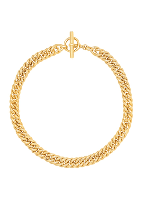Small Curb Chain 18kt gold-plated sterling silver necklace