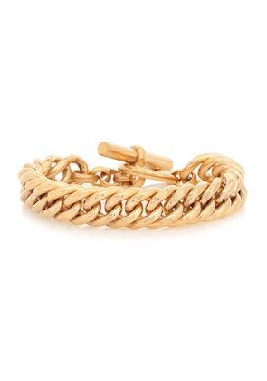 Large 23.5kt gold-plated curb chain bracelet