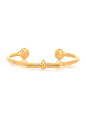 Torque T-bar gold-plated bangle