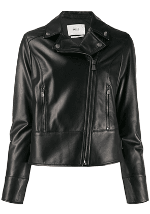 Bally fitted biker jacket - Black