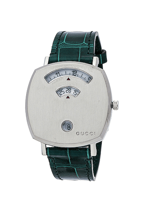 Gucci 157MD Watch in Green & Green Alligator - Green,Metallic. Size all.