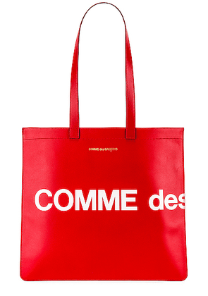 Comme Des Garcons Huge Logo Tote Bag in Red - Red. Size all.