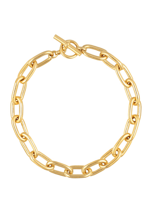 Large Oval Linked 18kt gold-plated necklace