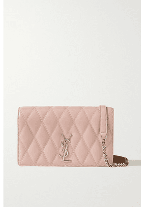 SAINT LAURENT - Angie Quilted Leather Shoulder Bag - Pink