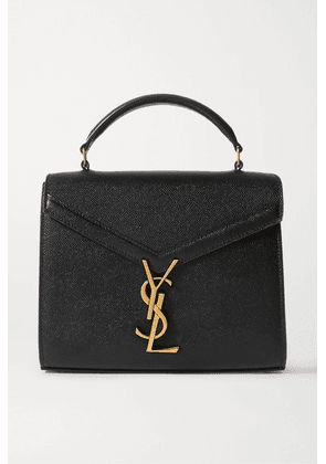 SAINT LAURENT - Cassandra Mini Textured-leather Tote - Black