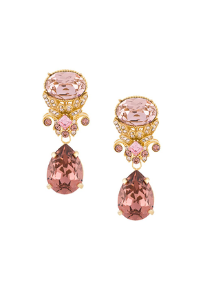 Dolce & Gabbana drop earrings with decorative details - GOLD