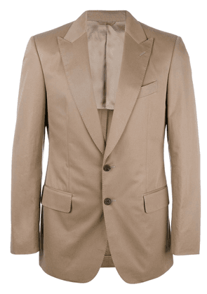 Gieves & Hawkes formal single-breasted blazer - Brown