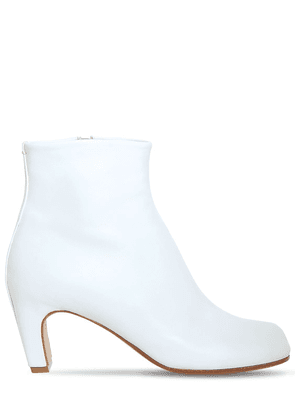 60mm Tabi Leather Ankle Boots