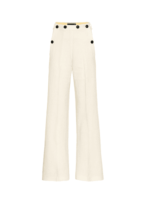 Palmetto wool-crêpe flared pants