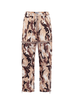 High-rise straight camouflage pants