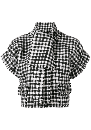 Dolce & Gabbana houndstooth print top - Black