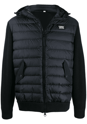 Burberry hooded hybrid puffer jacket - Blue
