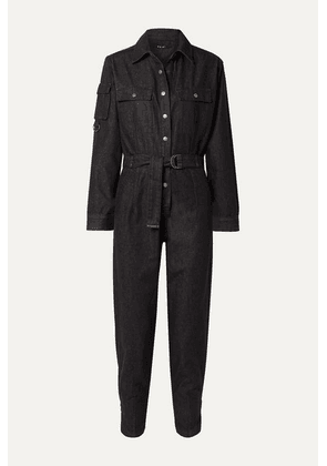 Ksubi - Empire Belted Denim Jumpsuit - Black