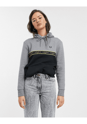 Fred Perry taped hoodie-Grey