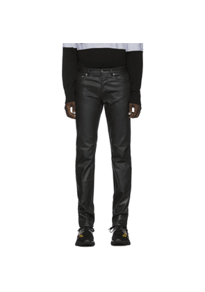 Givenchy Black Coated Skinny Jeans