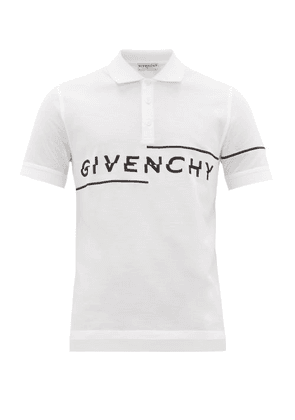 Givenchy - Logo-embroidered Cotton Polo Shirt - Mens - White