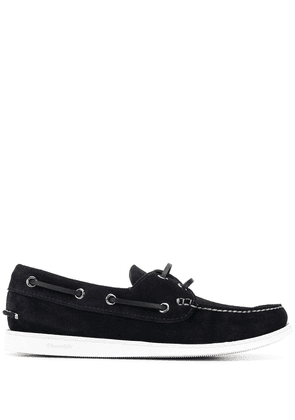 Church's lace-side boat shoes - Blue