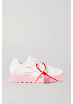 Off-White - Hg Runner Leather, Suede And Shell Sneakers - IT36