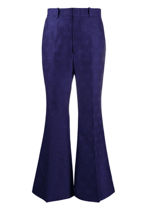 Gucci GG flared trousers - Blue