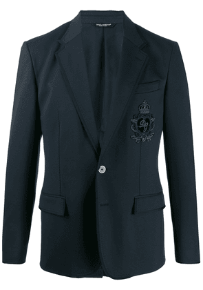 Dolce & Gabbana DG patch blazer - Blue