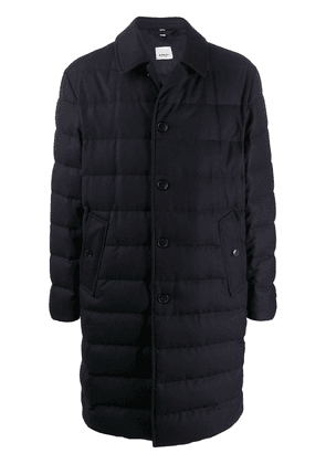 Burberry single-breasted padded coat - Blue