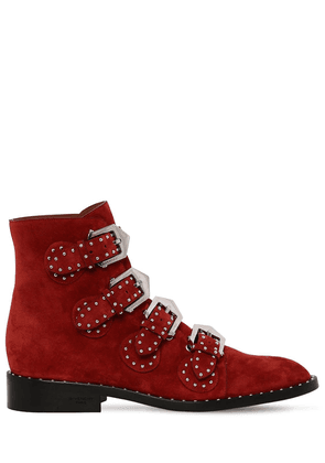 20mm Studded Suede Ankle Boots