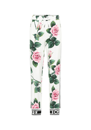 Floral high-rise trackpants