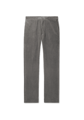 The Row - Grey Walker Cotton And Cashmere-blend Corduroy Trousers - Gray