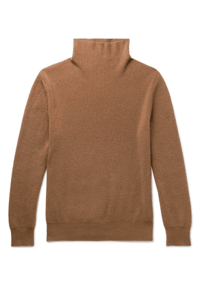 The Row - Daniel Ribbed Cashmere Rollneck Sweater - Camel
