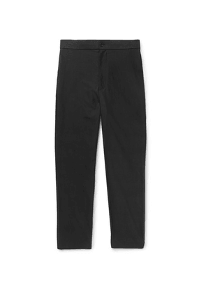 The Row - Black La Track Slim-fit Tapered Cotton Trousers - Black