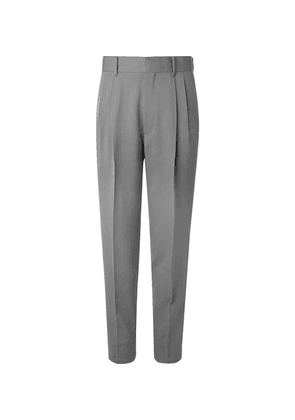 The Row - Grey Eric Pleated Virgin Wool Trousers - Gray