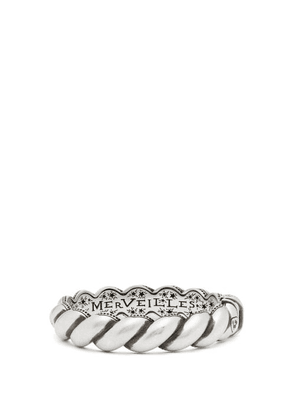 Gucci - Twisted-rope Sterling-silver Hinged Bracelet - Mens - Silver