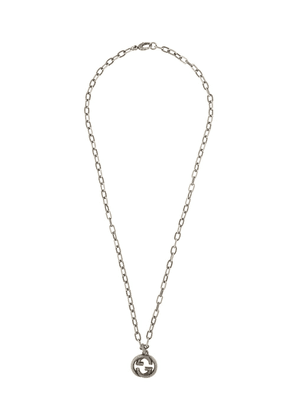 Gucci Double G pendant necklace - SILVER