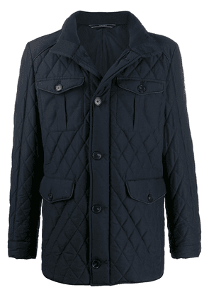 Hackett quilted padded jacket - Blue