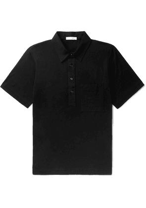 The Row - Si Cotton-jersey Polo Shirt - Black