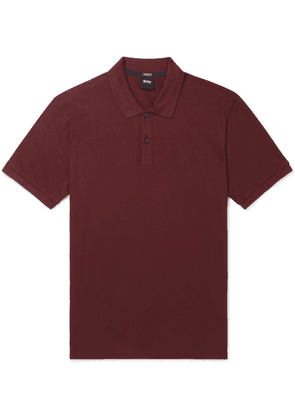 Hugo Boss - Pallas Cotton-piqué Polo Shirt - Burgundy