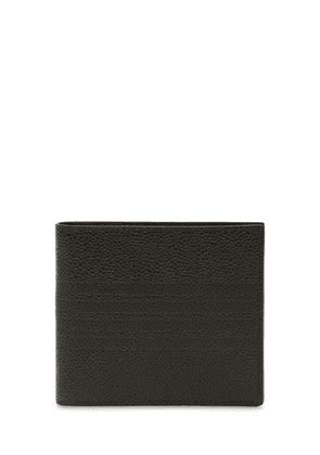 4 Bars Embossed Leather Billfold Wallet