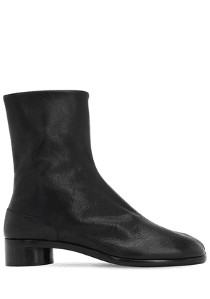 3omm Zip-up Leather Ankle Boots