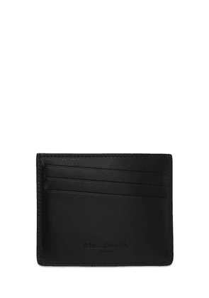 Perforated Logo Leather Card Holder