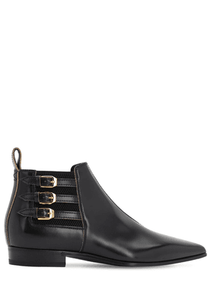 15mm Quebec Leather Ankle Boots