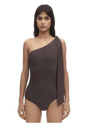 Arden Ruched Nylon One Piece Swimsuit